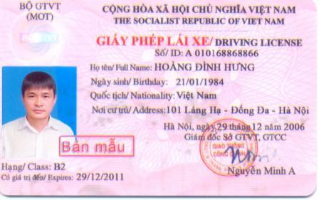 Tìm hiểu về các loại bằng lái xe